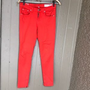 Rag & Bone zipper Capri skinny jeans